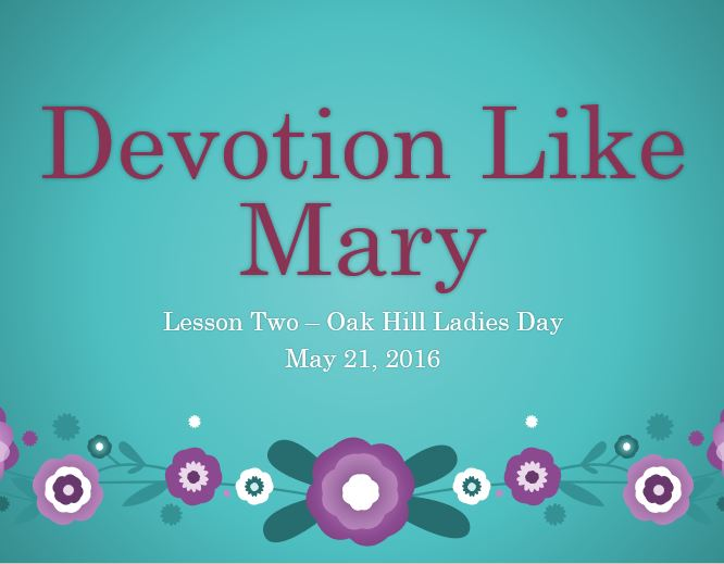 Devotion Like Mary